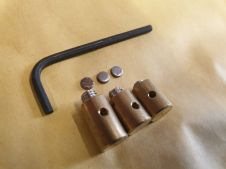 Set of 3  Brass  Gear and clutch  cable trunnions with 3 mm allen key